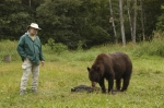 With my favorite bear at my favorite place, the Vince Shute Wildlife Sanctuary. Tim Halvorson, (Tim's the one on the le