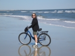 Biking on the beach in February - Robbie Perl